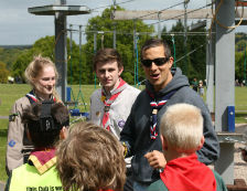 Bear Grylls arrives at Lea Green Centre