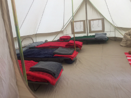 Glamping at Lea Green Centre