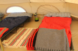 Glamping beds