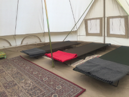 Glamping home comforts