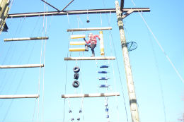 High ropes course Lea Green Centre