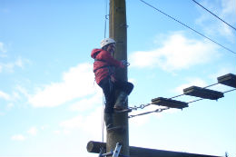 High ropes activities Derbyshire